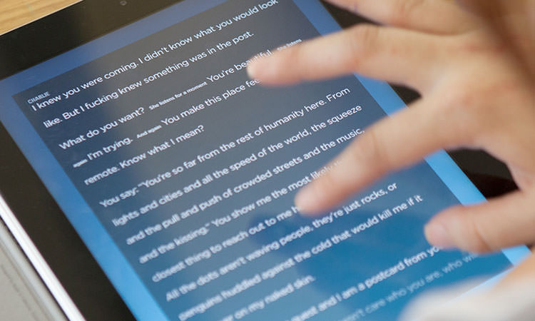The Noise iPad storytelling interface